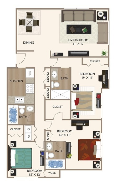 The Parker Floor Plan Image